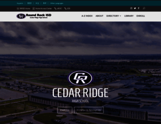 cedarridge.roundrockisd.org screenshot