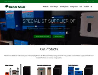 cedarsolar.com screenshot