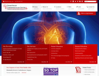 cedarvalleycardiovascularcenter.com screenshot