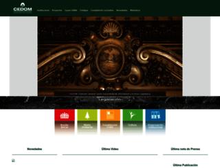 cedom.gov.ar screenshot