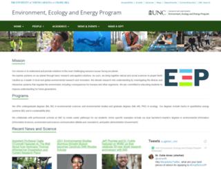 cee.unc.edu screenshot
