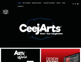 ceejarts.com screenshot