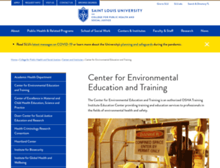 ceet.slu.edu screenshot