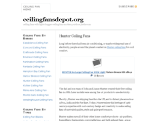ceilingfansdepot.org screenshot