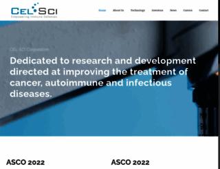 cel-sci.com screenshot