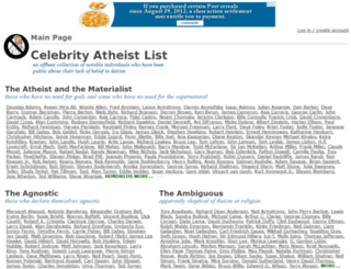 celebatheists.com screenshot