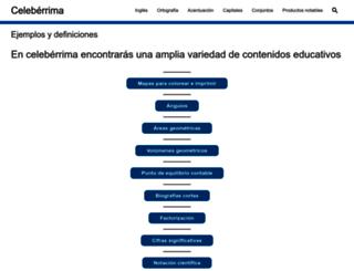 celeberrima.com screenshot