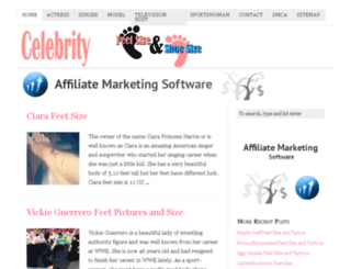 celebfeetsize.com screenshot