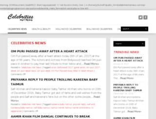 celebritieshotnews.com screenshot