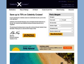 celebrity.cruiselines.com screenshot