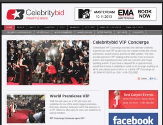 celebritybid.com screenshot