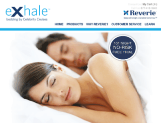 celebrityexhalebedding.reverie.com screenshot