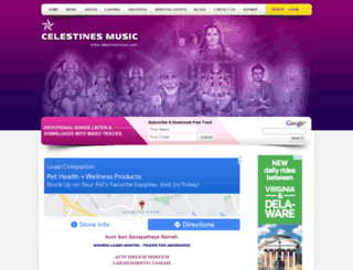 celestinesmusic.com screenshot