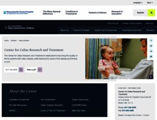 celiaccenter.org screenshot