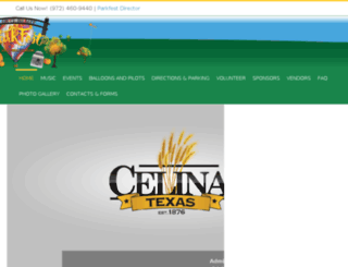 celinaballoonfestival.com screenshot