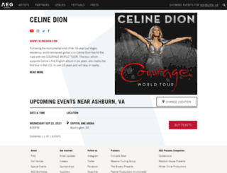 celineinvegas.com screenshot