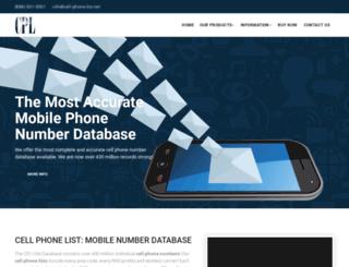 cell-phone-list.net screenshot