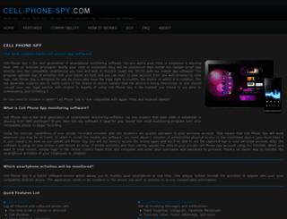 cell-phone-spy.com screenshot