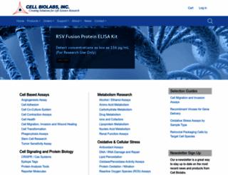 cellbiolabs.com screenshot