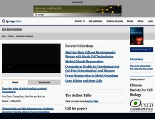 cellregenerationjournal.com screenshot