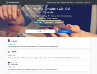 cellrevealer.com screenshot