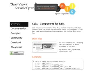 cells.rubyforge.org screenshot