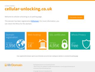 cellular-unlocking.co.uk screenshot