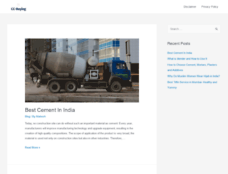 cementcorporation.co.in screenshot