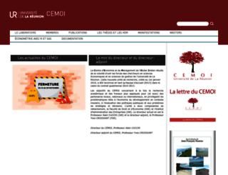 cemoi.univ-reunion.fr screenshot