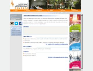 cendeco.unimet.edu.ve screenshot