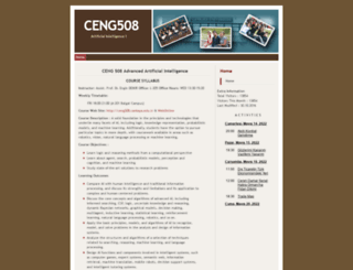 ceng508.cankaya.edu.tr screenshot