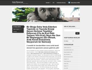 cenkozmercan.wordpress.com screenshot