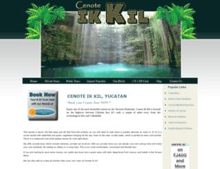 cenote-ik-kil.com screenshot