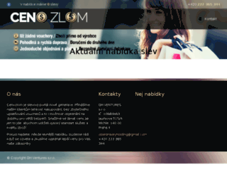 cenozlom.cz screenshot