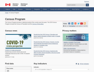 census2011.gc.ca screenshot