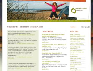 centcoast.tas.gov.au screenshot