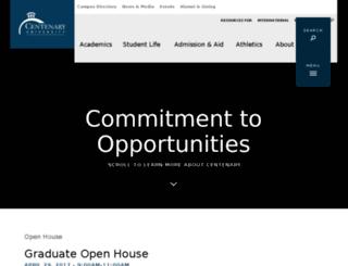 centenarycollege.edu screenshot