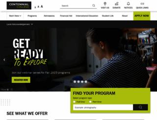 centennialcollege.ca screenshot
