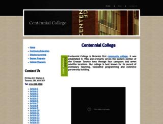centennialcollege.yolasite.com screenshot