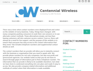 centennialwireless.com screenshot