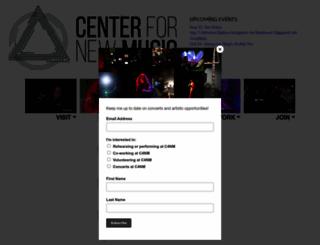 centerfornewmusic.com screenshot