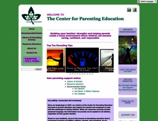 centerforparentingeducation.org screenshot