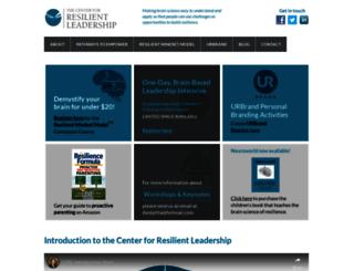 centerforresilientleadership.com screenshot