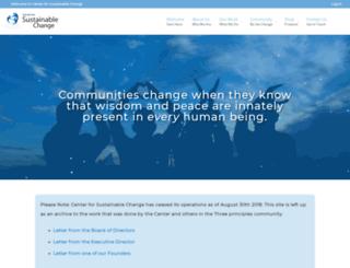 centerforsustainablechange.org screenshot