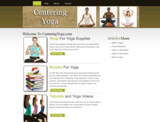 centeringyoga.com screenshot