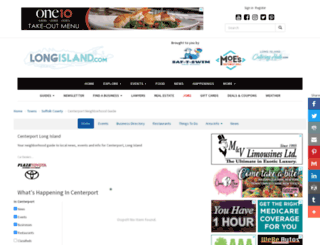 centerport.longisland.com screenshot