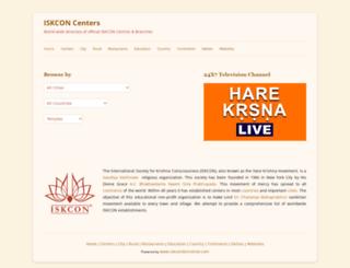 centers.iskcondesiretree.com screenshot