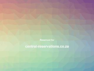 central-reservations.co.za screenshot