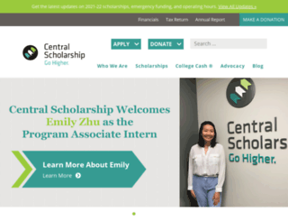 central-scholarship.org screenshot