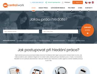 central-work.cz screenshot